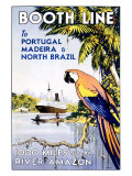 Booth Ocean Lines to Portugal Impressão giclée