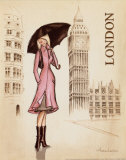 London Posters by Andrea Laliberte