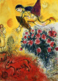 L'Envol Affiche par Marc Chagall