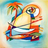 Sun Fish I Affiches par Alfred Gockel