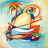 Sun Fish I Posters by Alfred Gockel