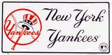 "Nummernschild: ""NY Yankees"" Blechschild"