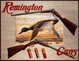 Remington-Gewehre– 2 Gewehre und Enten Blechschild