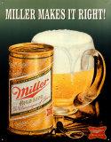 Miller Makes It Right Plaque en métal