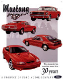 Ford Mustang 30 Year Tribute Placa de lata