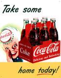 Coke Sprite Boy Plaque en métal