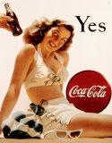 Coca-Cola Plaque en métal