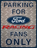 Ford Racing Parking Placa de lata