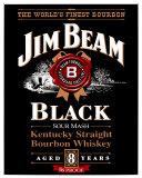 Jim Beam Black Label Plaque en métal