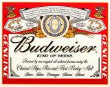 Etikett von Budweiser-Dose Blechschild