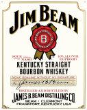 Jim Beam White Label Placa de lata