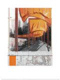 Die Tore, Projekt für den Central Park, New York City Kunstdrucke von  Christo