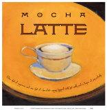 Mokka mit Milch Kunstdrucke von Jillian David