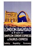 Simplon Orient Express, Baghdad, Iraq Giclée-Druck