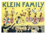Klein Unicycle Family Circus Lámina giclée