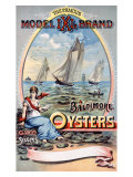 Model IXI Brand, Baltimore Oysters Giclée-tryk