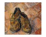 Pair of Shoes Giclee-trykk av Vincent van Gogh