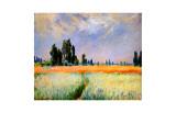 Peupliers au loin Reproduction procédé giclée par Claude Monet