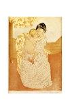 Maternal Caress Giclee Print by Mary Cassatt