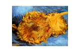 Two Cut Sunflowers, c.1887 Giclée-tryk af Vincent van Gogh