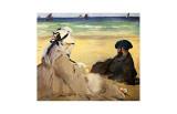 A la plage Reproduction procédé giclée par Edouard Manet