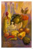Mediterranean Kitchen III Poster by Karel Burrows