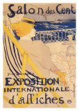 Salon des Cent Póster por Henri de Toulouse-Lautrec