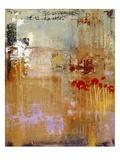Pavots et roses trémières Reproduction procédé giclée par Lou Wall