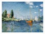 Red Boats, Argenteuil Giclée-tryk af Claude Monet