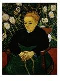 Woman Rocking a Cradle (Augustine Roulin) Giclée-tryk af Vincent van Gogh