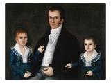Portrait de John Jacob Anderson et de ses fils, Edward et William Reproduction procédé giclée par Joshua Johnson