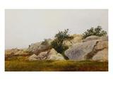 Rocky Landscape Giclee Print by John Frederick Kensett