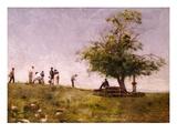 Mending the Net Giclee-trykk av Thomas Cowperthwait Eakins