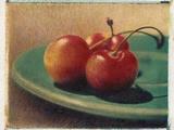 Three Rainier Cherries Photographic Print by Jennifer Kennard