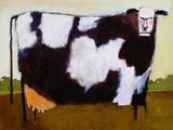 Vache Reproduction procédé giclée par Lou Wall