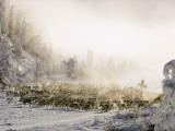 Reindeer Course Through a Siberian Valley Fotografisk tryk af Dean Conger