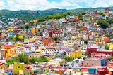 ¡Viva Mexico! Collection - Colorful Cityscape IX - Guanajuato Fotografie-Druck von Philippe Hugonnard