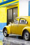¡Viva Mexico! Collection - VW Beetle Car and Yellow Wall Lámina fotográfica por Philippe Hugonnard