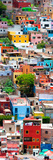 ¡Viva Mexico! Panoramic Collection - Colorful Cityscape - Guanajuato Reproduction photographique par Philippe Hugonnard