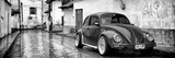 ¡Viva Mexico! Panoramic Collection - VW Beetle Car in San Cristobal de Las Casas Fotografisk tryk af Philippe Hugonnard