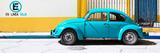 "¡Viva Mexico! Panoramic Collection - ""En Linea Roja"" Blue VW Beetle Car Fotografisk trykk av Philippe Hugonnard"