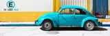 "¡Viva Mexico! Panoramic Collection - ""En Linea Roja"" Blue VW Beetle Car Fotoprint van Philippe Hugonnard"