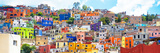 ¡Viva Mexico! Panoramic Collection - Colorful City Guanajuato II Fotografisk tryk af Philippe Hugonnard