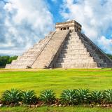 ¡Viva Mexico! Square Collection - El Castillo Pyramid - Chichen Itza VIII Reproduction photographique par Philippe Hugonnard