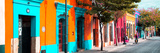 ¡Viva Mexico! Panoramic Collection - Colorful Street in Oaxaca II Reproduction photographique par Philippe Hugonnard