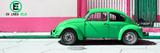 "¡Viva Mexico! Panoramic Collection - ""En Linea Roja"" Green VW Beetle Car Fotografisk trykk av Philippe Hugonnard"