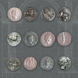 Roman Coins II Reproduction procédé giclée par  The Vintage Collection