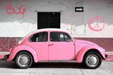 ¡Viva Mexico! Collection - VW Beetle Car and Light Pink Graffiti Fotografie-Druck von Philippe Hugonnard