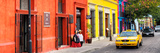 ¡Viva Mexico! Panoramic Collection - Colorful Street in Oaxaca VII Fotografisk tryk af Philippe Hugonnard