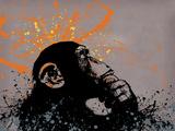 Thinker Monkey Reproduction procédé giclée par  Banksy